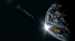 Planet Earth sunrise Stock Footage