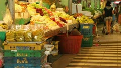 Fruit Market Stock Footage