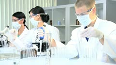 Student Doctors Working in Hospital Laboratory - stock footage