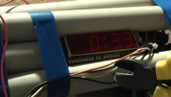 Homemade bomb with timer 30 seconds countdown.  easy to fill in your own time. Stock Footage