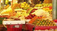 Fruit Market Stock Footage