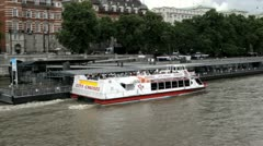 City Cruises London Tour Boat Stock Footage