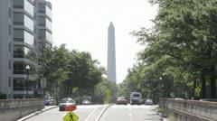 Washington Monument with Traffic - stock footage