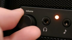 HD - Volume control close-up Stock Footage