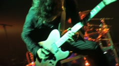 Electric guitar solo 2, rock concert Stock Footage