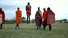 Masai People Stock Footage