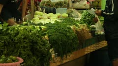 Buying Vegetables Stock Footage