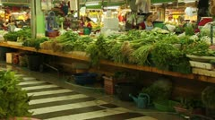 Thai Vegetable Market Stock Footage