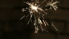 Sparkler - stock footage