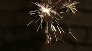 Stock Video Footage of Sparkler