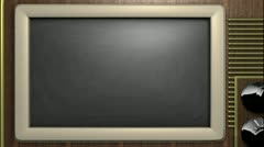 Animated Old TV background for titles Stock Footage