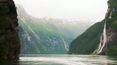 Fjord norway Stock Footage