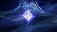 Nebula apophysis blue Stock Footage