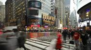 Busy crossing 42nd street, New York, USA, T/lapse Stock Footage