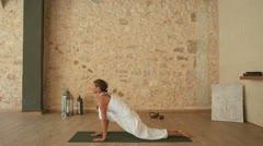 Yoga Asana indoor - stock footage