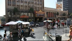 Hollywood boulevard  from the escalator at Highland Mall Stock Footage