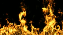 Fire endless with alpha mask in HD 1080 Stock Footage