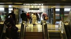 Passengers airport Stock Footage