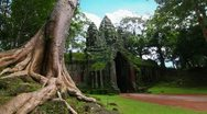 Stock Video Footage of Angkor Thom temple time lapse loop