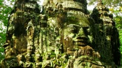 Angkor faces time lapse loop - stock footage