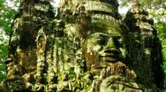 Stock Video Footage of Angkor faces time lapse loop