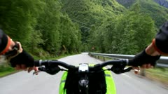 Downhill on bicycle. Stock Footage