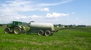 Tractor working on the field Stock Footage