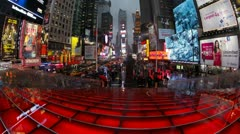 Times Square, Manhattan, New York, USA, T/lapse   - stock footage