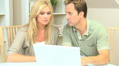 Young Couple Needing Financial Solutions - stock footage