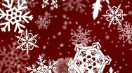 Christmas snowflakes background Stock Footage