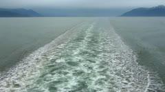 Alaska Ferry Wake Stock Footage