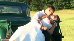 Country Truck Kiss 1 - stock footage