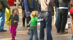 Protest, Occupy (Wall-Street) Seattle, children being children Stock Footage