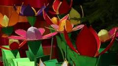 Chinese Lantern of flowers - stock footage
