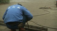 Chinese Workers Welding Lanterns Stock Footage