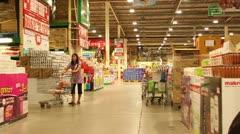 Supermarket Aisle Stock Footage