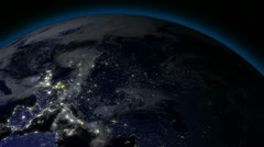 Earth from Space Alien Invasion 02 Europe Stock Footage