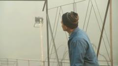Chinese Lantern Builder - stock footage