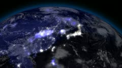 Earth from Space Alien Invasion 03 Far East Stock Footage