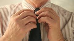 Man removing tie Stock Footage