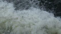 Splashing water on river - stock footage