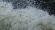 Splashing water on river Stock Footage