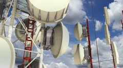 Communication Towers Clouds Timelapse 05 Stock Footage