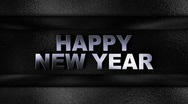 Happy New Year Metal Wall - HD1080 Stock Footage