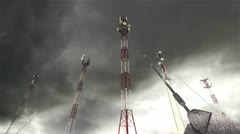 Communication Towers Clouds Timelapse 16 Stock Footage