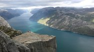 Stock Video Footage of Preikestolen