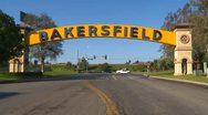 Stock Video Footage of Bakersfield arch