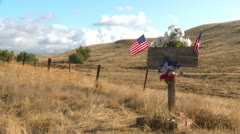 American roadside memorial Stock Footage