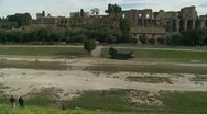 Spectators & helicopter in Circo Massimo, Rome Stock Footage