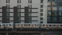 "Chicago ""L"" Train II Stock Footage"